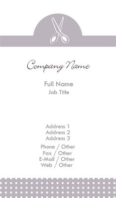 White and Lilac Crafts Business Card Template